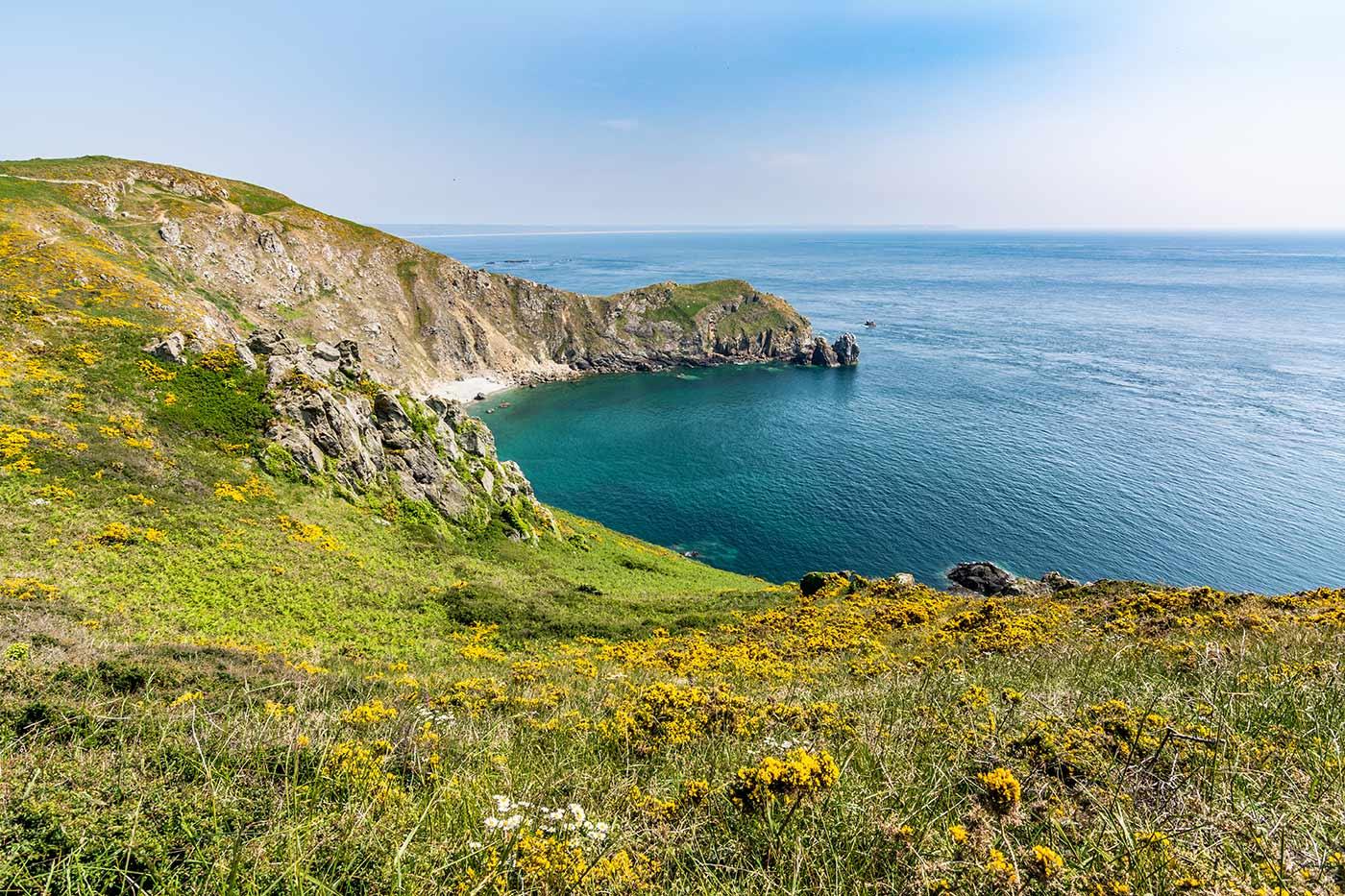 An der Küste Europas im Land Frankreich