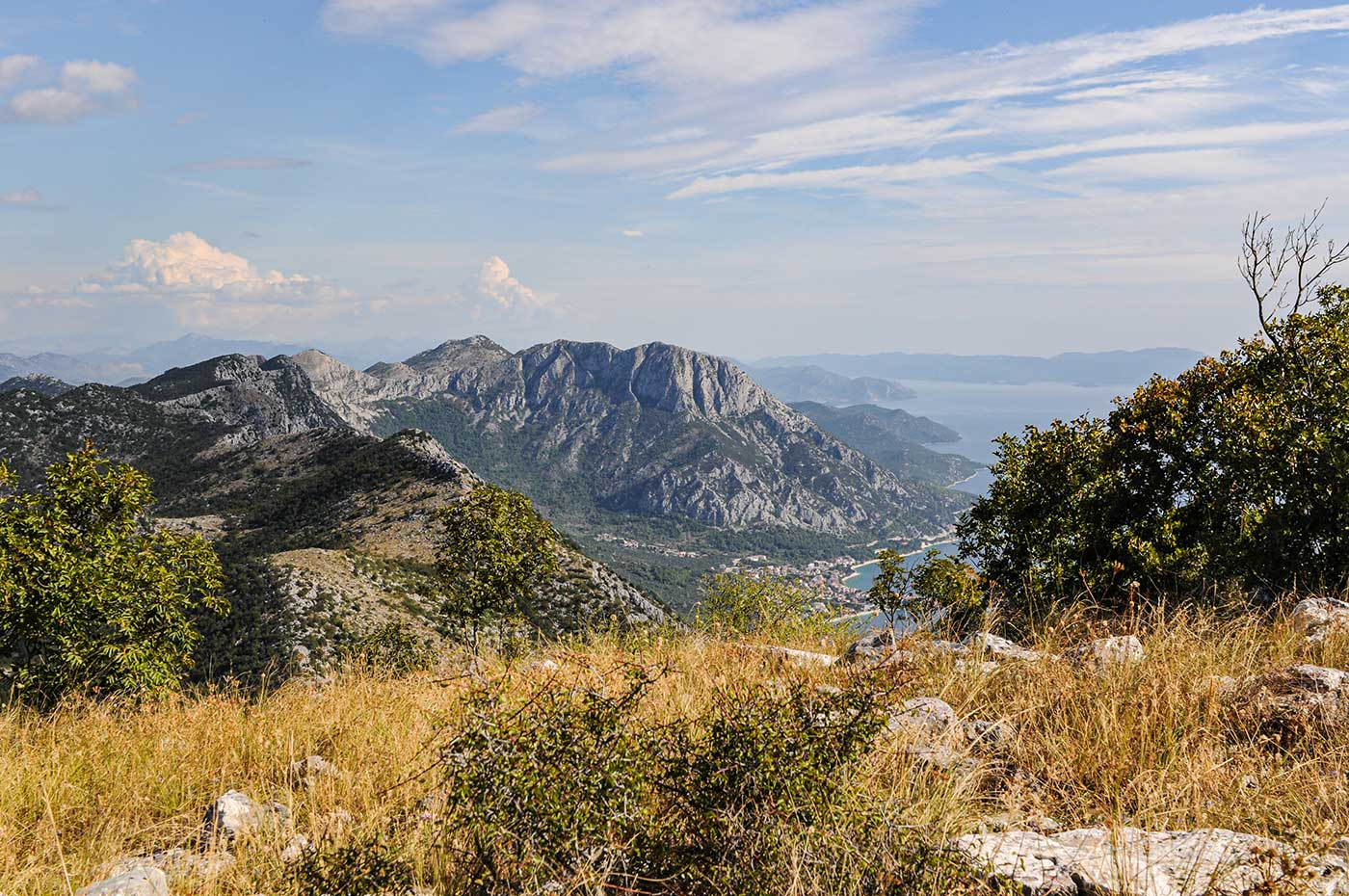 Die Küste des europäischen Lands Kroatien