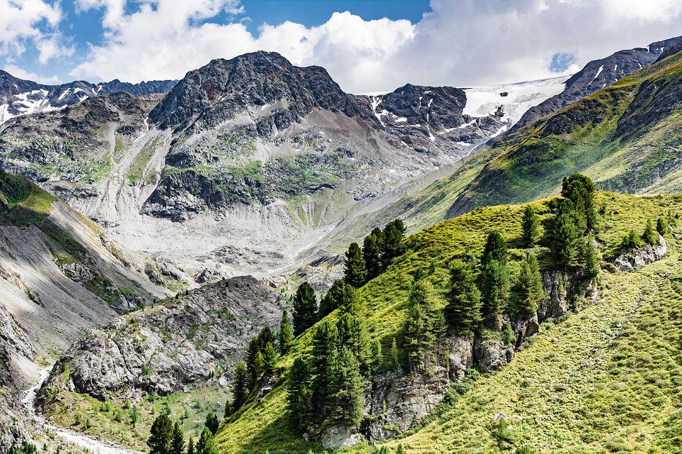 Die Alpen im europäischen Land Österreich