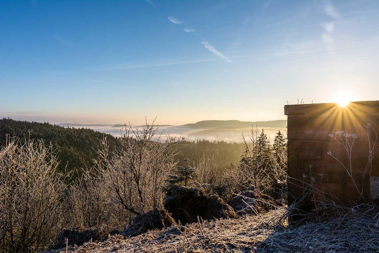 Winterliche Landschaft im Norschwarzwald